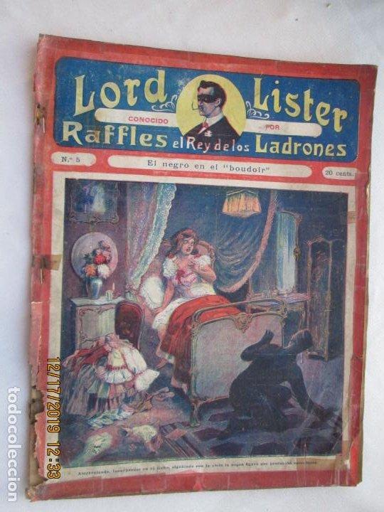 LORD LISTER , RAFFLES EL REY DE LOS LADRONES , EL NEGRO EN EL BOUDOIR Nº 5 - 1900? (Tebeos y Comics - Ferma - Aventuras Ilustradas)