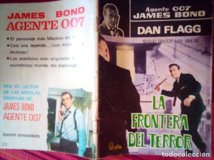 Tebeos: AGENTE 007 JAMES BOND- Nº 22 -CON DAN FLAGG-LA FRONTERA DEL TERROR-1966-CORRECTO-DIFÍCIL-LEAN-2892 - Foto 2 - 190611206