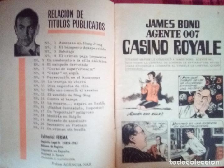 Tebeos: AGENTE 007 JAMES BOND- Nº 22 -CON DAN FLAGG-LA FRONTERA DEL TERROR-1966-CORRECTO-DIFÍCIL-LEAN-2892 - Foto 5 - 190611206