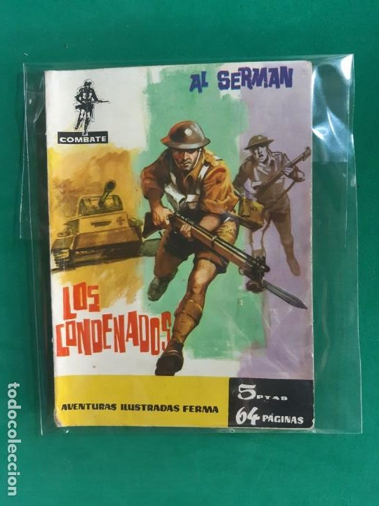 COMBATE Nº 4 EDITORIAL FERMA 1962 5 PTAS (Tebeos y Comics - Ferma - Combate)