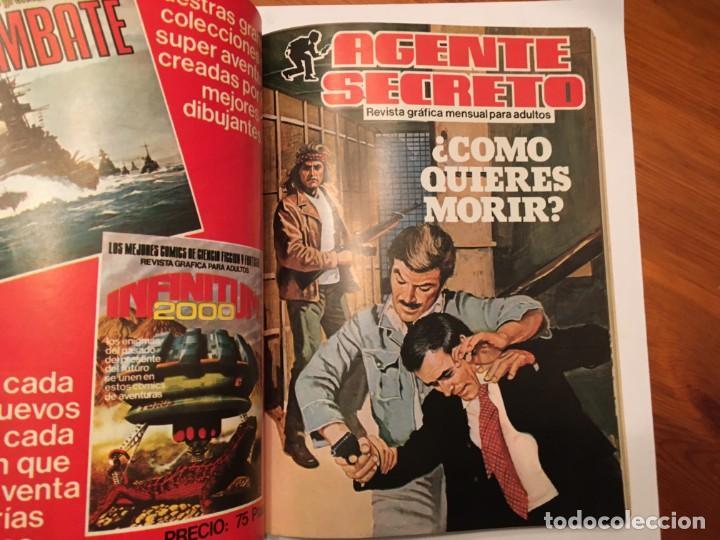 Tebeos: agente secreto,extra, con 4 numeros 2 de top secret nº 2 y 3 - Foto 3 - 194508868