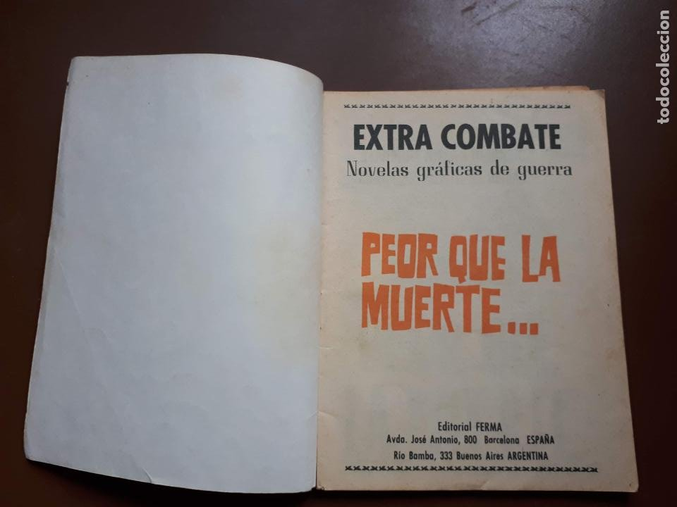 Tebeos: Extra Combate - Nº 62 - Peor que la muerte - 1965 - Foto 2 - 195969017