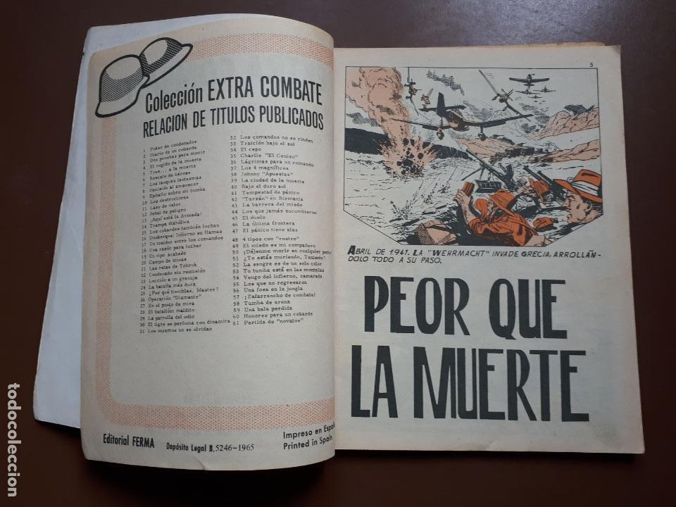 Tebeos: Extra Combate - Nº 62 - Peor que la muerte - 1965 - Foto 3 - 195969017