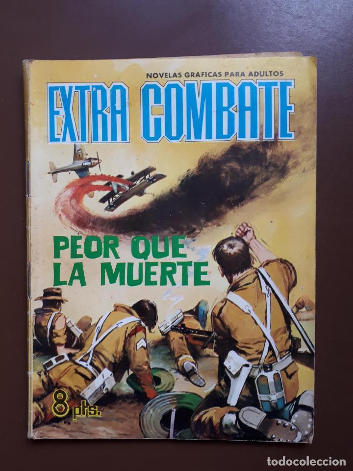 EXTRA COMBATE - Nº 62 - PEOR QUE LA MUERTE - 1965 (Tebeos y Comics - Ferma - Combate)