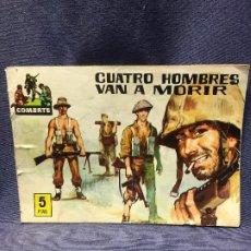 Tebeos: SERIE COMBATE EDIT FERMA CUATRO HOMBRES VAN A MORIR 16,5X24CMS. Lote 196818601