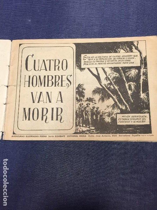 Tebeos: SERIE COMBATE EDIT FERMA CUATRO HOMBRES VAN A MORIR 16,5X24CMS - Foto 11 - 196818601