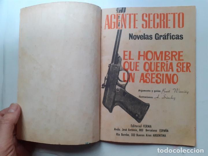 Tebeos: AGENTE SECRETO-FERMA- Nº 35 -EL HOMBRE QUE QUERÍA SER UN ASESINO-1967-GRAN ARMANDO-BUENO-LEAN-3280 - Foto 4 - 197310250