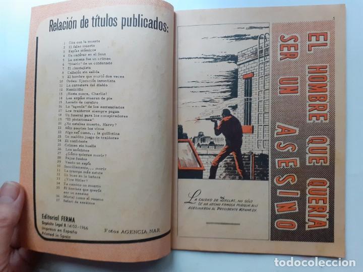 Tebeos: AGENTE SECRETO-FERMA- Nº 35 -EL HOMBRE QUE QUERÍA SER UN ASESINO-1967-GRAN ARMANDO-BUENO-LEAN-3280 - Foto 5 - 197310250