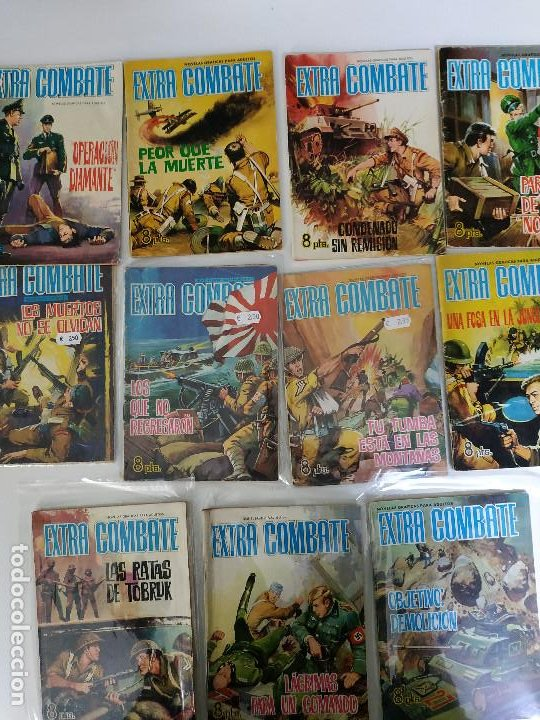 EXTRA COMBATE, 11 NUMEROS 21,22, 26, 31, 36. 53, 55, 56,62, 64 Y 66 (Tebeos y Comics - Ferma - Combate)