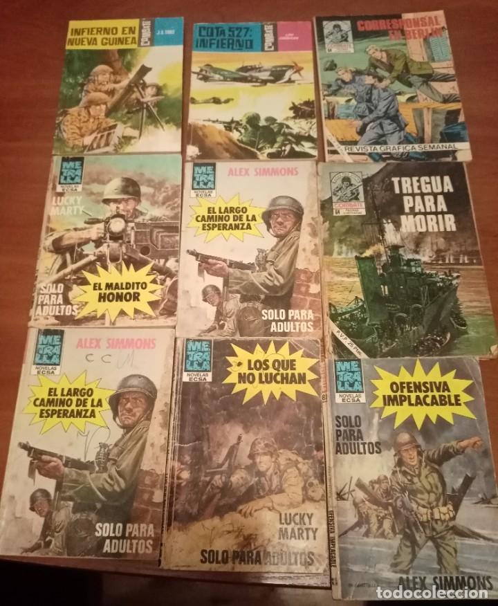 LOTE DE 17 BOLSILIBROS DE COMBATE Y METRALLA LOTE 38 (Tebeos y Comics - Ferma - Combate)