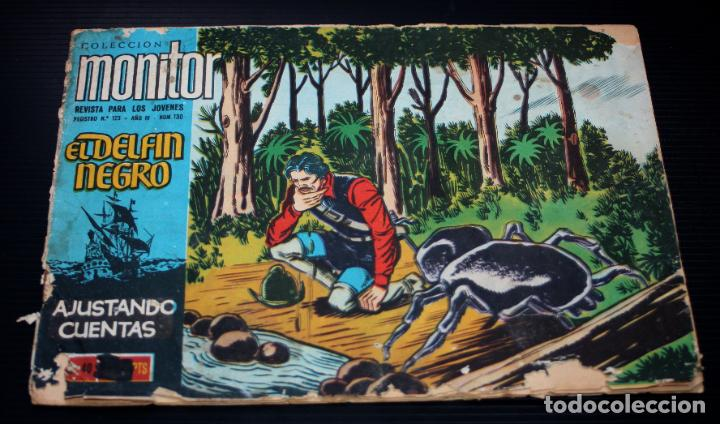 EL DELFIN NEGRO Nº130:AJUSTE DE CUENTAS (COLECCION MONITOR) - IBERO MUNDIAL 1962_MUY DIFICIL (Tebeos y Comics - Ferma - Otros)