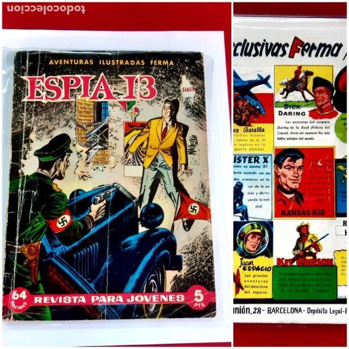 ESPIA 13 - SIN NUMERO - AVENTURAS ILUSTRADAS - FERMA - AÑO 1958-64 PAGINAS (Tebeos y Comics - Ferma - Otros)