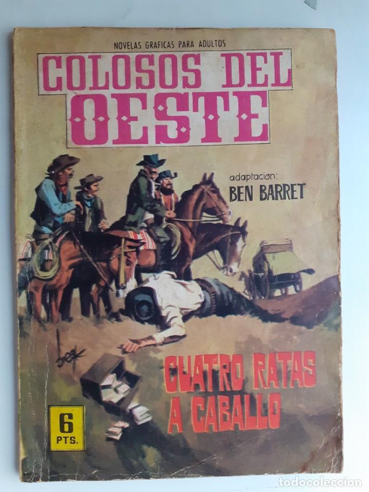 COLOSOS DEL OESTE-FERMA- Nº 91 -CUATRO RATAS A CABALLO- 1965-A. REDONDO-MUY DIFÍCIL-BUENO-LEA-3506 (Tebeos y Comics - Ferma - Colosos de Oeste)