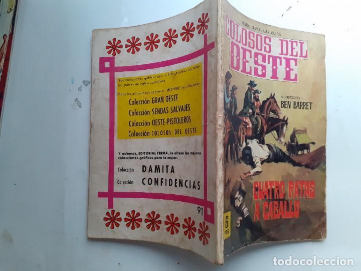 Tebeos: COLOSOS DEL OESTE-FERMA- Nº 91 -CUATRO RATAS A CABALLO- 1965-A. REDONDO-MUY DIFÍCIL-BUENO-LEA-3506 - Foto 2 - 207319597