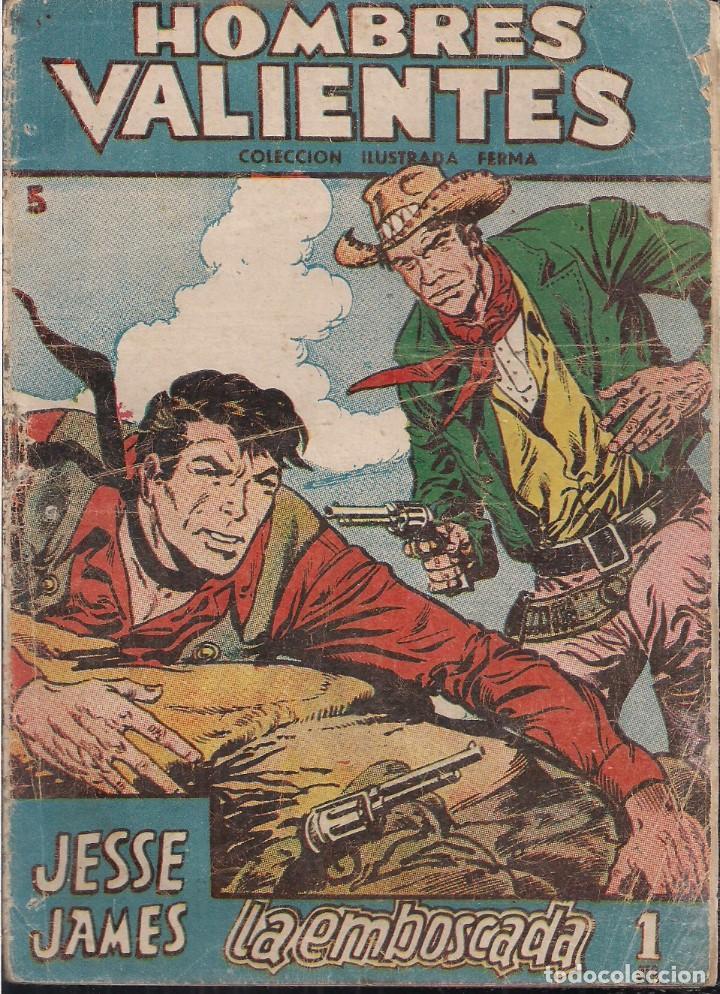 HOMBRES VALIENTES SERIE AZUL JESSE JAMES Nº 5: LA EMBOSCADA (Tebeos y Comics - Ferma - Otros)