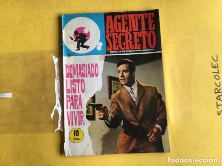 Tebeos: AGENTE SECRETO. LOTE DE 3 NUMEROS (VER DESCRIPCION) EDITORIAL FERMA AÑO 1966 - Foto 4 - 209389598