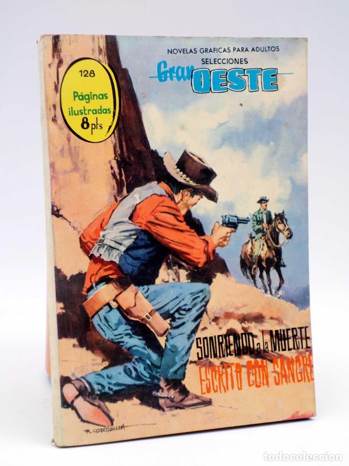 SELECCIONES GRAN OESTE 15. SONRIENDO A LA MUERTE / ESCRITO CON SANGRE. FERMA, 1963. OFRT (Tebeos y Comics - Ferma - Gran Oeste)