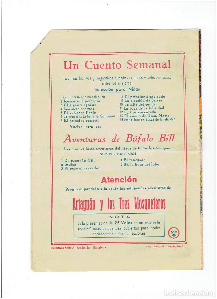 Tebeos: * AVENTURAS DE BUFFALO BILL nº 5 * TEBEO ORIGINAL 1955 * EXCLUSIVAS FERMA * - Foto 3 - 214045491