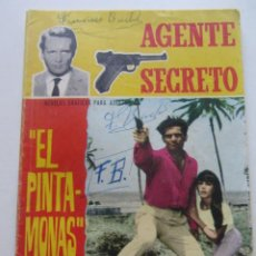 Tebeos: AGENTE SECRETO, Nº 19, EL PINTAMONAS, AÑO 1966 FERMA CX65. Lote 214371073