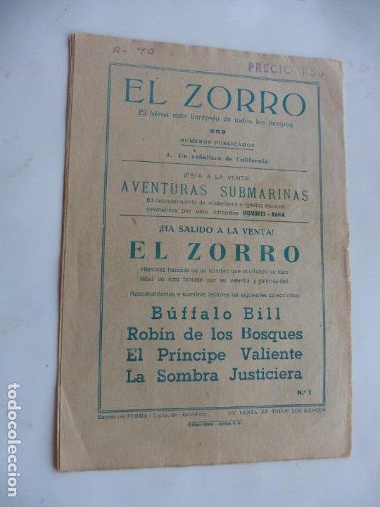 Tebeos: EL ZORRO Nº 1 E FERMA ORIGINAL - Foto 2 - 215313098