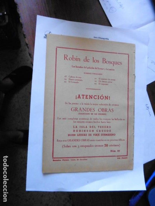 Tebeos: ROBIN DE LOS BOSQUES Nº 23 E FERMA ORIGINAL - Foto 2 - 215351517