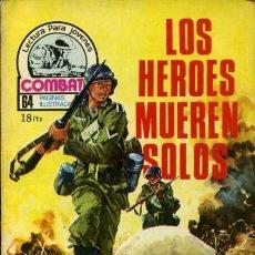Tebeos: COMBATE-NOVELA GRÁFICA- Nº 110 -LOS HÉROES MUEREN SOLOS-GRAN CASARRUBIO-1978-DIFÍCIL-BUENO-LEA-3565. Lote 216984908