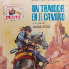 Giornalini: SENDAS DEL OESTE Nº 130. EL TRAIDOR EN EL CAMINO. EDITA FERMA 1962. Lote 217156093