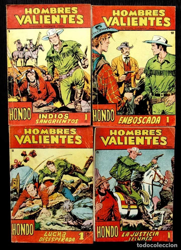HOMBRES VALIENTES. HONDO. 4 NÚMEROS DIFERENTES. ED.FERMA. AÑO: 1958. ORIGINALES. (Tebeos y Comics - Ferma - Otros)