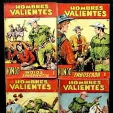 Tebeos: HOMBRES VALIENTES. HONDO. 4 NÚMEROS DIFERENTES. ED.FERMA. AÑO: 1958. ORIGINALES.. Lote 220585802