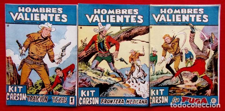 HOMBRES VALIENTES. KIT CARSON. 3 NÚMEROS DIFERENTES. ED.FERMA. AÑO: 1958. ORIGINALES. (Tebeos y Comics - Ferma - Otros)