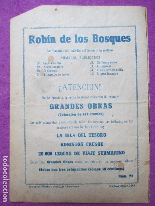 Tebeos: TEBEO ROBIN DE LOS BOSQUES Nº 24 EL CABALLERO DEL ANILLO ED. FERMA ORIGINAL - Foto 2 - 221912087