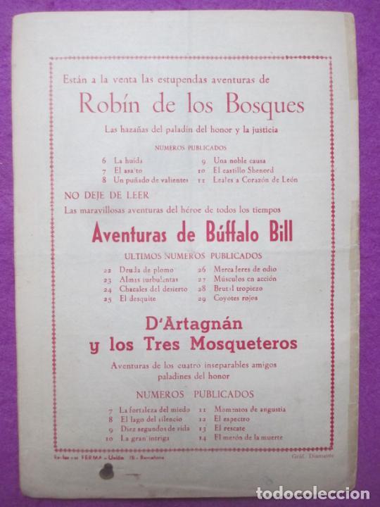 Tebeos: TEBEO ROBIN DE LOS BOSQUES Nº 11 LEALES A CORAZON DE LEON ED. FERMA ORIGINAL - Foto 2 - 221912475