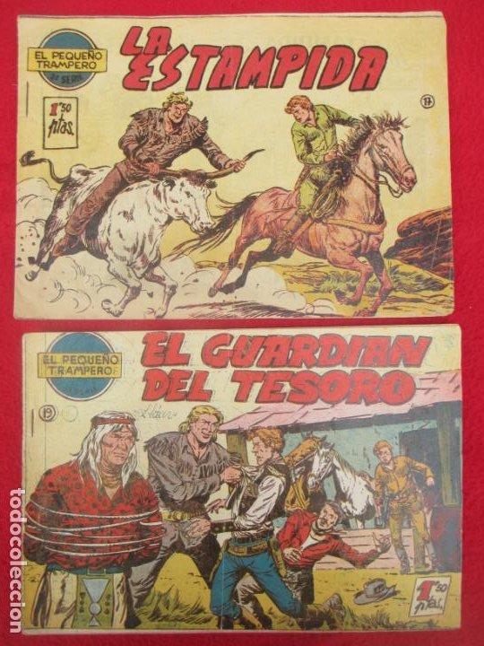Tebeos: LOTE 8 TEBEOS EL PEQUEÑO TRAMPERO 2ª SERIE FERMA ORIGINAL - Foto 8 - 224958830