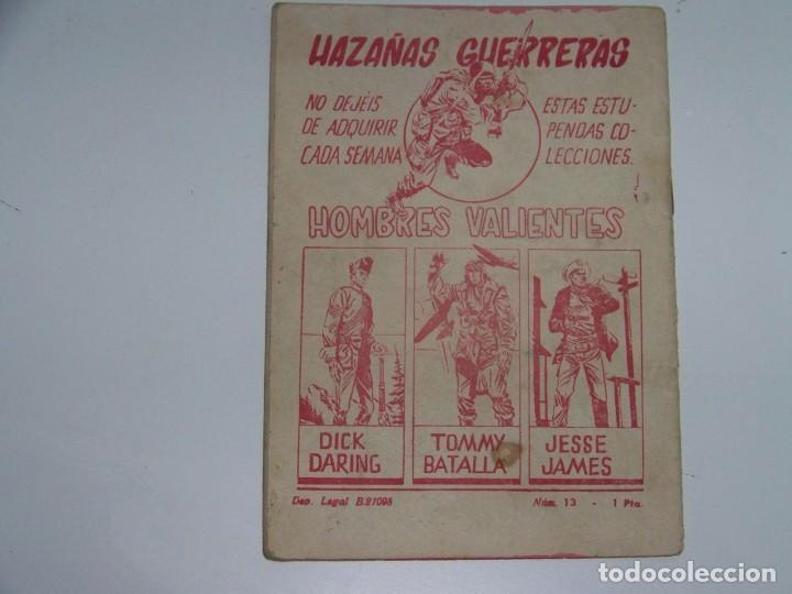 Tebeos: FERMA HOMBRES VALIENTES DICK DARING 13 - Foto 2 - 226947800