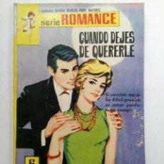 Tebeos: SERIE ROMANCE Nº 235 - CUANDO DEJES DE QUERERLE. Lote 227863880