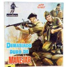BDs: COMBATE 35. DEMASIADO DURO DE MANEJAR (JEFF STORY) FERMA, 1962. Lote 228081713