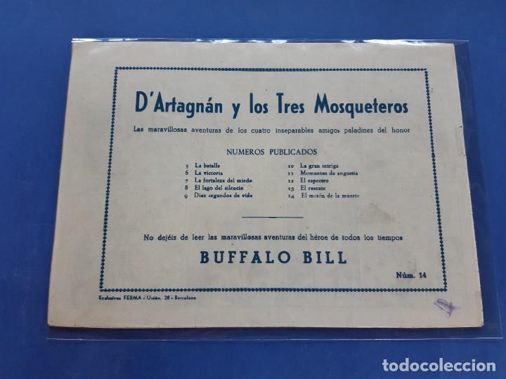 Tebeos: D´Artagnan y los Tres Mosqueteros.Ferma 1955. nº 14- Muy buen estado- ORIGINAL- - Foto 2 - 229539295