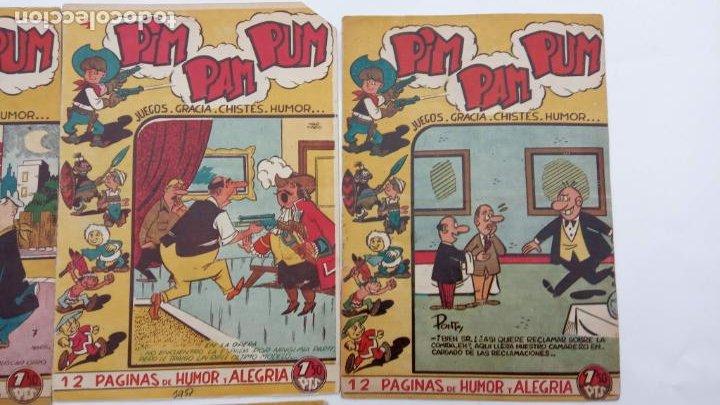 Tebeos: PIM PAM PUM ORIGINALES FERMA 1957 - NºS, 4,7,9,10,14,17,22 - MARTÍNEZ OSETE DIBUJOS - Foto 2 - 231607975
