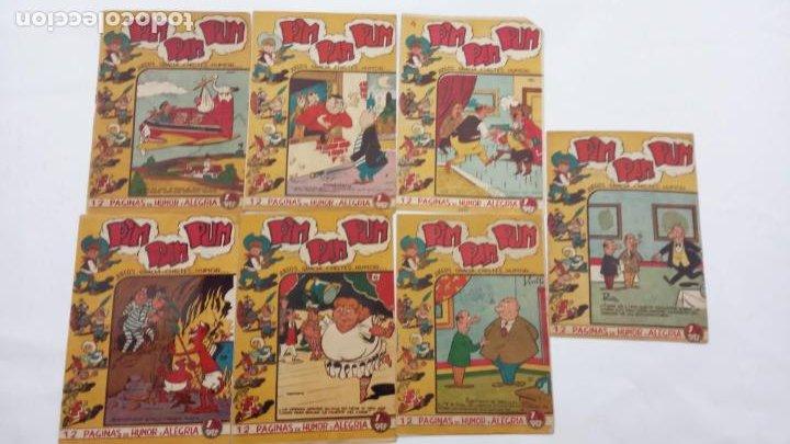 PIM PAM PUM ORIGINALES FERMA 1957 - NºS, 4,7,9,10,14,17,22 - MARTÍNEZ OSETE DIBUJOS (Tebeos y Comics - Ferma - Otros)