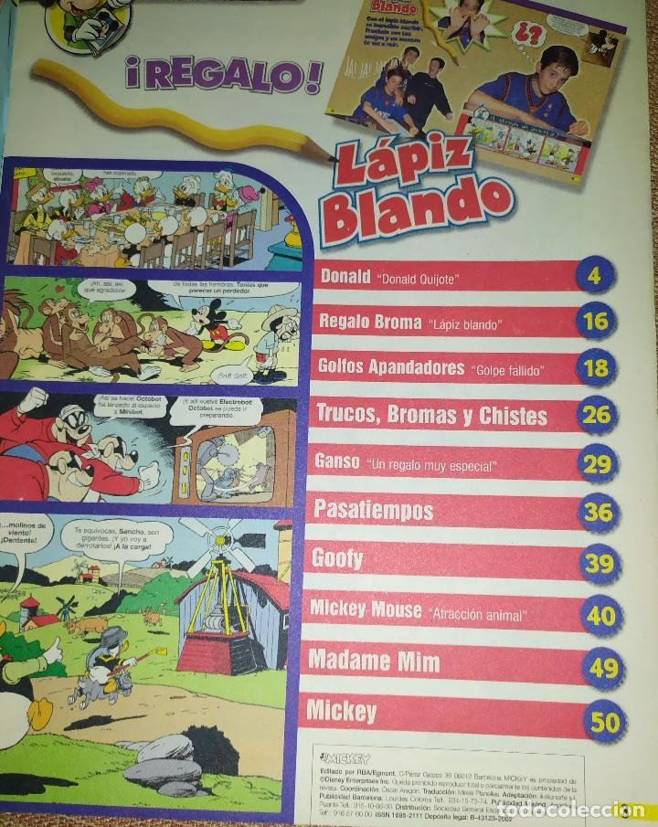 Tebeos: REVISTA TEBEO DISNEY MICKEY NUMERO 6 PATO DONALD TRUCOS BROMAS CHISTES GOLFOS GOLPE FALLIDO - Foto 2 - 233468205
