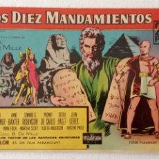 Tebeos: LOS DIEZ MANDAMIENTOS , EDI. FERMA 1959 CINECOLOR - CECIL B.DE MILLE, CHALTON HESTON, YUL BRYNNER. Lote 233768370