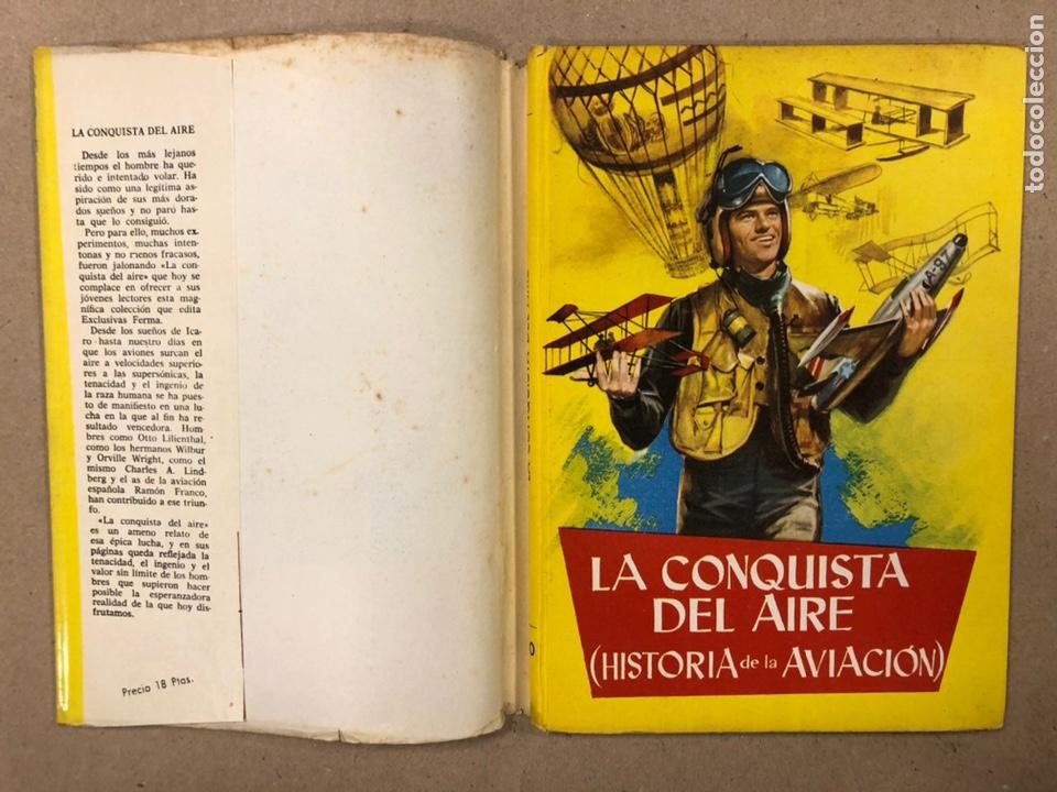 Tebeos: LA CONQUISTA DEL AIRE (HISTORIA DE LA AVIACIÓN). FLORES - LÁZARO. COLECCIÓN JUVENIL FERMA 1961. - Foto 2 - 234722260