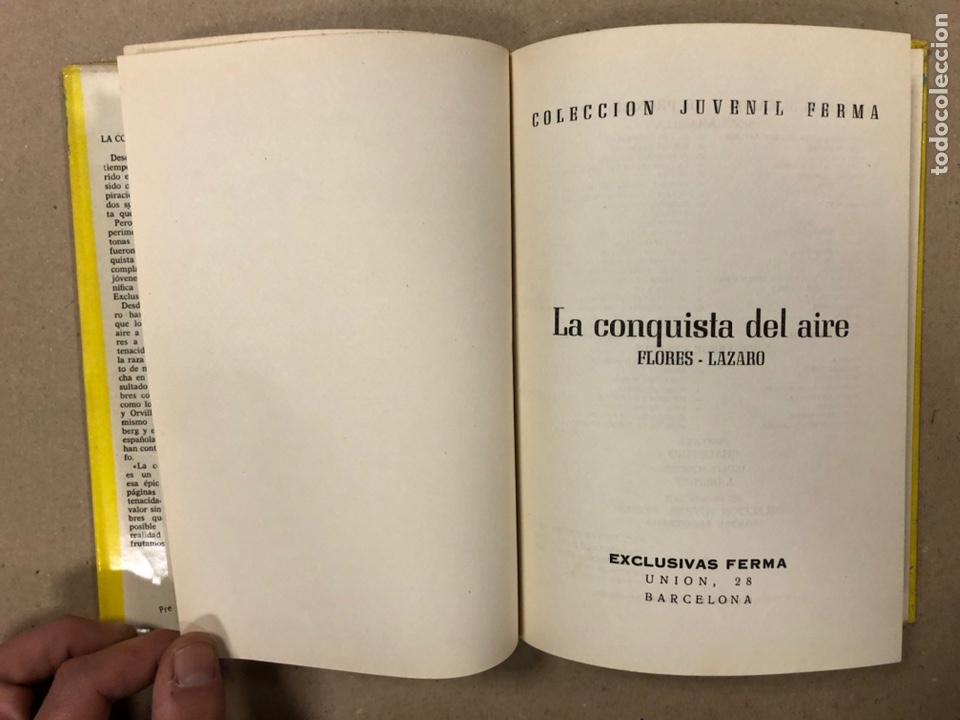 Tebeos: LA CONQUISTA DEL AIRE (HISTORIA DE LA AVIACIÓN). FLORES - LÁZARO. COLECCIÓN JUVENIL FERMA 1961. - Foto 3 - 234722260