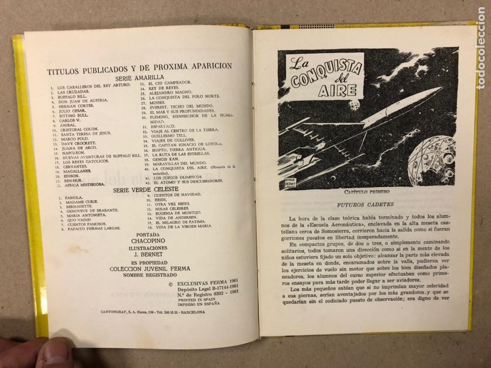 Tebeos: LA CONQUISTA DEL AIRE (HISTORIA DE LA AVIACIÓN). FLORES - LÁZARO. COLECCIÓN JUVENIL FERMA 1961. - Foto 4 - 234722260