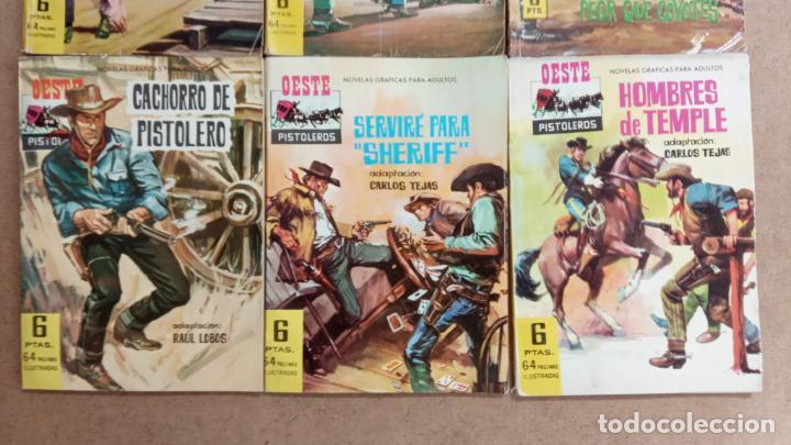 Tebeos: OESTE PISTOLEROS EDI. FERMA 1963 - 56 NºS ENTRE EL 22 Y EL 169, VER PORTADAS Y CONTRAS - Foto 5 - 235598340
