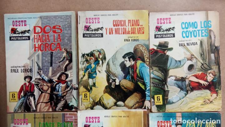 Tebeos: OESTE PISTOLEROS EDI. FERMA 1963 - 56 NºS ENTRE EL 22 Y EL 169, VER PORTADAS Y CONTRAS - Foto 18 - 235598340