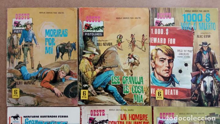 Tebeos: OESTE PISTOLEROS EDI. FERMA 1963 - 56 NºS ENTRE EL 22 Y EL 169, VER PORTADAS Y CONTRAS - Foto 22 - 235598340