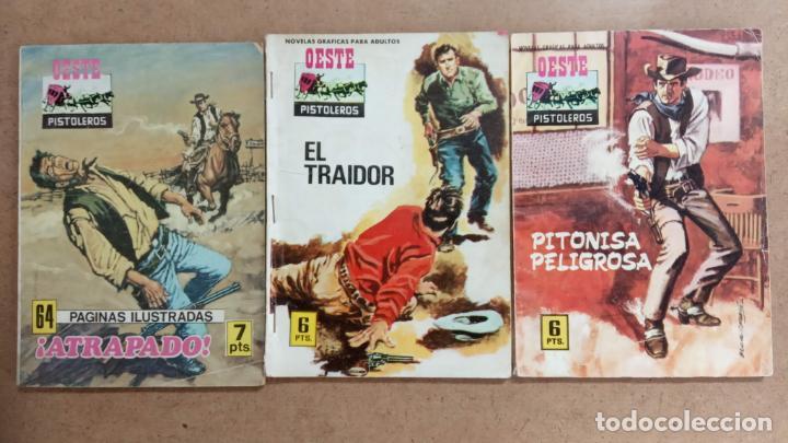 Tebeos: OESTE PISTOLEROS EDI. FERMA 1963 - 56 NºS ENTRE EL 22 Y EL 169, VER PORTADAS Y CONTRAS - Foto 25 - 235598340