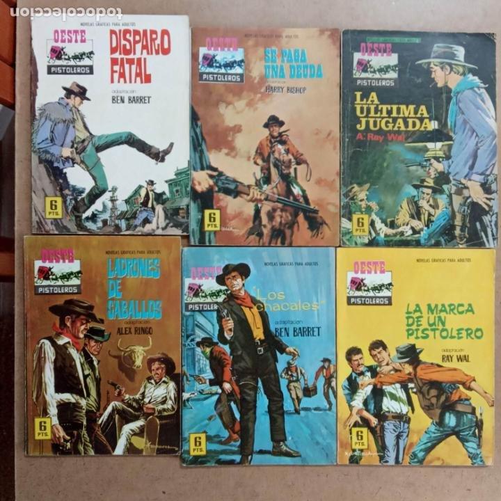 Tebeos: OESTE PISTOLEROS EDI. FERMA 1963 - 56 NºS ENTRE EL 22 Y EL 169, VER PORTADAS Y CONTRAS - Foto 31 - 235598340