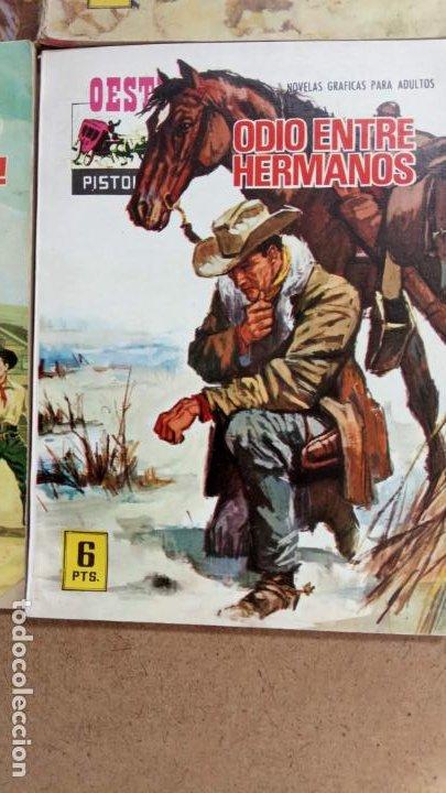 Tebeos: OESTE PISTOLEROS EDI. FERMA 1963 - 56 NºS ENTRE EL 22 Y EL 169, VER PORTADAS Y CONTRAS - Foto 35 - 235598340